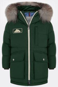 Boys Green Down Padded Coat