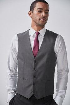Charcoal Big & Tall Waistcoat