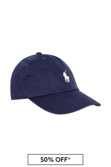 Boys Navy Cotton Classic Cap