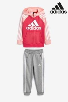 adidas Little Kids Pink Tracksuit