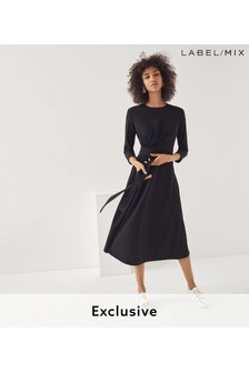 Mix/Edeline Lee Tie Belted Jersey Dress
