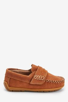 Tan Penny Loafers (Younger)