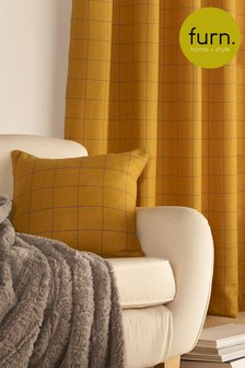 Furn Yellow Ellis Woven Cushion