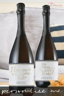 Personalised You Mean The World To Me Prosecco by Signature PG