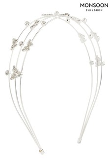 Monsoon Silver Butterfly Headband
