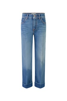Girls Denim Blue Flared Jeans