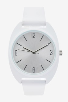 White Silicon Sporty Watch