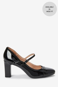 Black Patent Brogue Mary Jane Shoes