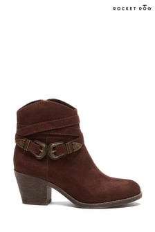 Rocket Dog Brown Sadea Ankle Western Boots