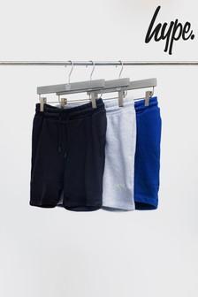 Hype. Black/Grey/Navy 3 Pack Kids Shorts