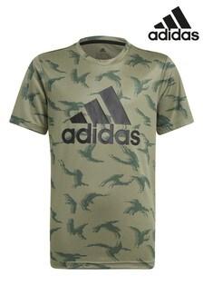 adidas Performance Khaki Camo T-Shirt