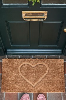 XL Heart Embossed Doormat