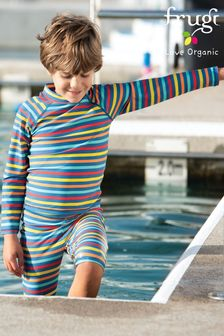 Frugi Oeko Tex UPF 50+ Kids Rash Vest - Rainbow Stripe