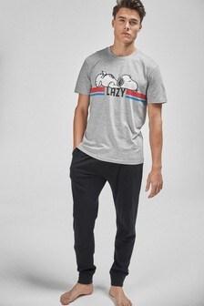 Grey Snoopy Pyjama Set