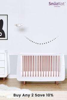 SnuzKot Metallic 2 Piece Nursery Furniture Set Rose Gold