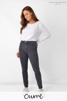 Live Unlimited Curve Washed Grey Regular Length Jeans