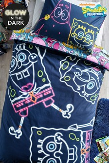 Glow In The Dark SpongeBob SquarePants Duvet Cover And Pillowcase Set