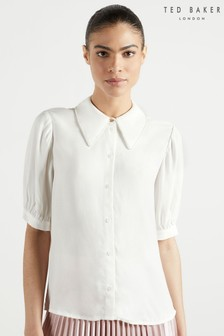 Ted Baker Guiliaa Shirt With Trim Detail Collar
