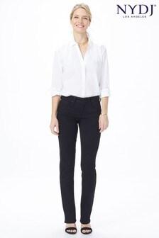 NYDJ Black Marilyn Straight Leg Jeans