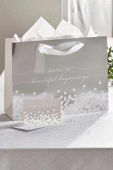 Wedding Bag, Card & Tissue Set