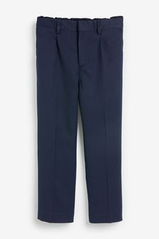 Navy Plus Waist Pleat Front Trousers (3-16yrs)