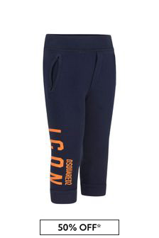 Kids Navy Cotton Joggers