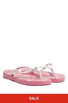 Havaianas Girls Pink Hello Kitty Flip Flops