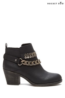Rocket Dog Black Shelinda Pablo Ankle Western Boots