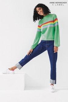 Mix/Anne Bernecker Straight Leg Jeans