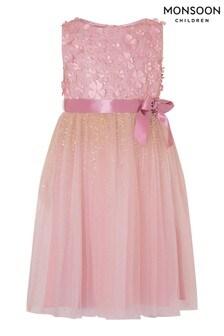Monsoon Pink Embellished Dress