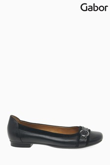Gabor Black Michelle Leather/Suede Shoes