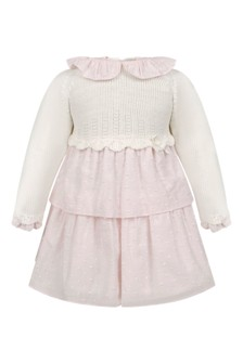 Baby Girls Pink Cotton Dress And Knickers Set