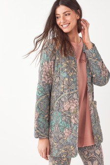 Pink Morris & Co. at Next Cotton Quilted Jacket