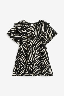 Monochrome Zebra Dress (3mths-7yrs)