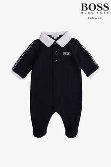 BOSS Navy Babygrow