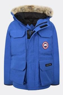 Boys Royal Blue Youth Expedition Parka Coat