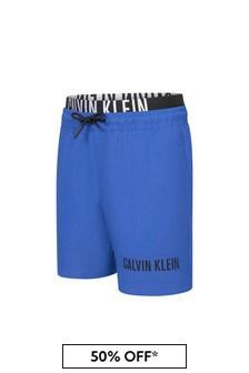 شورت سباحة أزرق أولادي منCalvin Klein