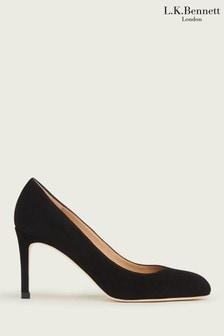 L.K.Bennett Black Fable Round Toe Floret Shoes