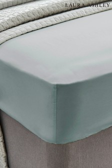 Laura Ashley Duck Egg 200 Thread Count Cotton Fitted Sheet