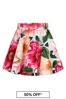 Dolce & Gabbana Baby Girls Pink Cotton Skirt