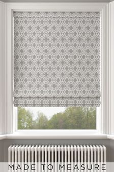 Hallam Silver Made To Measure Roman Blind