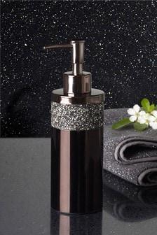 Harper Smoked Diamanté Soap Dispenser