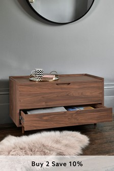 Walnut Oslo Storage Trunk