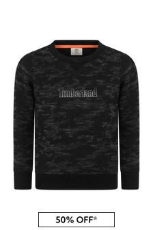 Boys Camouflage Print Fleece Sweater