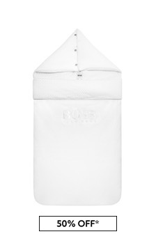 غطاء للبيبي قطن أبيض للجنسين منBOSS