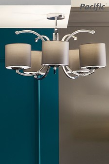 Arcadia Metal Curved 5 Arm Semi Flush Pendant by Pacific