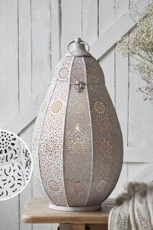 Large Cutwork Metal Lantern