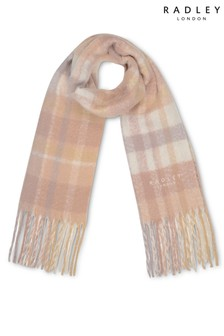 Radley London Fluffy Check Responsible Scarf