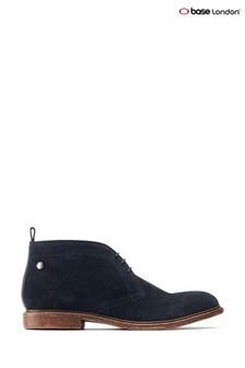 Base London® Blue Jasper Suede Lace-Up Boots