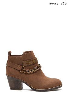 Rocket Dog Brown Shelinda Pablo Ankle Western Boots